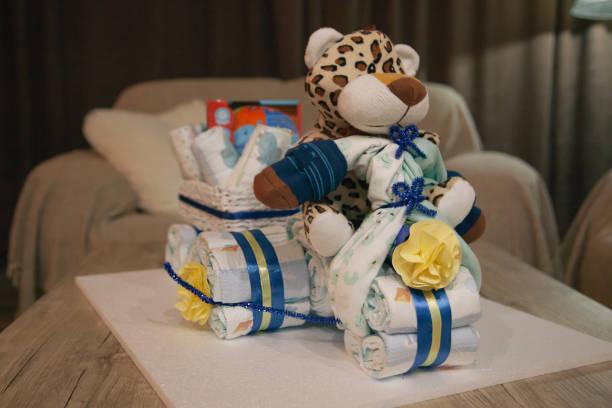 Ideas baby shower pañales peluche