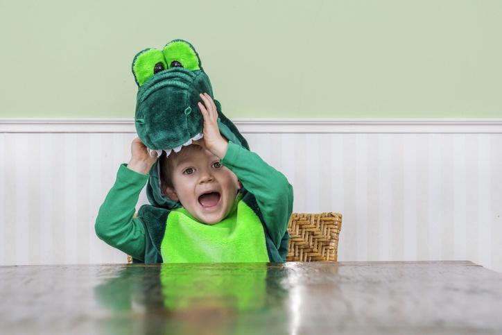 Disfraz de dinosaurio para ninos casero