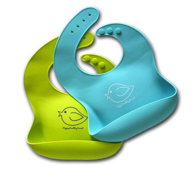 Babero de silicona impermeable Happy Healthy Parent