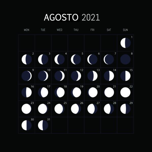 Calendario Lunar 2021-AGOSTO
