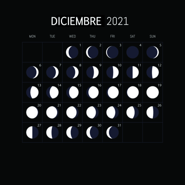Calendario Lunar 2021-DICIEMBRE