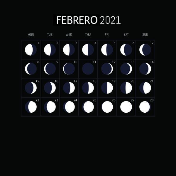 Calendario Lunar 2021-FEBRERO