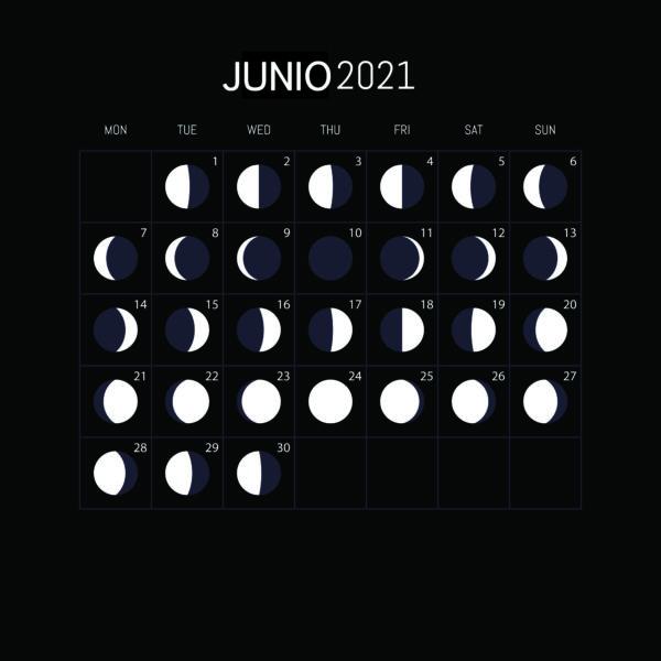 Calendario Lunar 2021-JUNIO