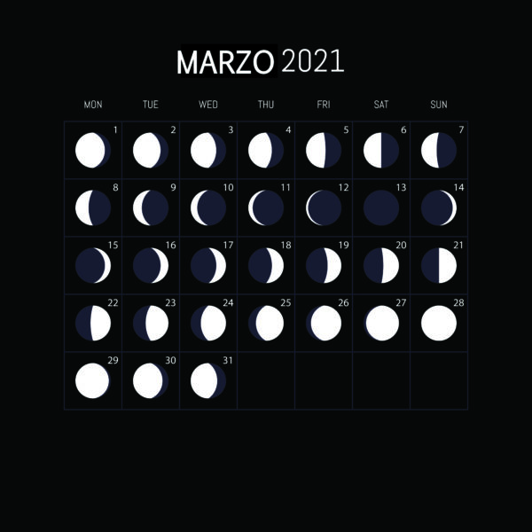 Calendario Lunar 2021-MARZO