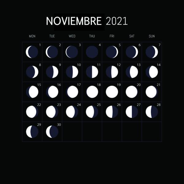 Calendario Lunar 2021-NOVIEMBRE