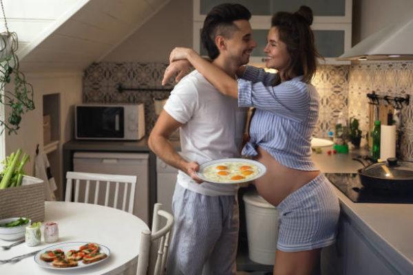 Huevo frito en embarazo