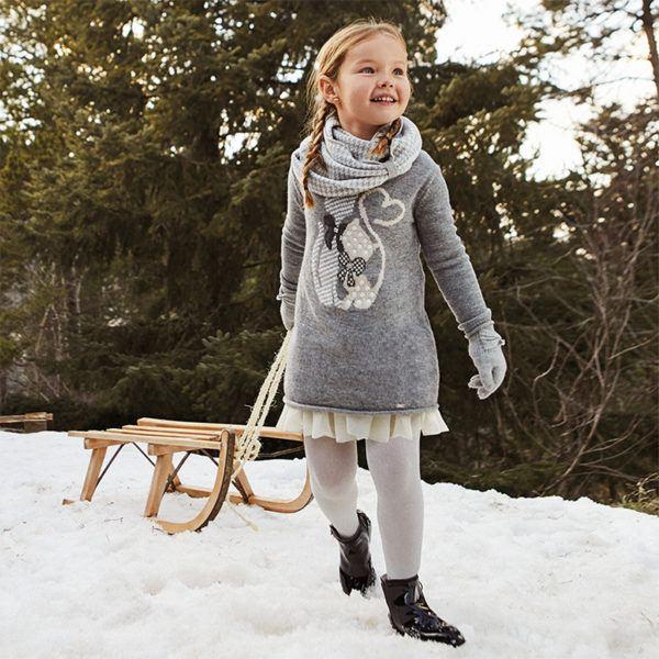Mayoral rebajas de verano para ninos y ninas invierno 2021 moda mini vestido punto