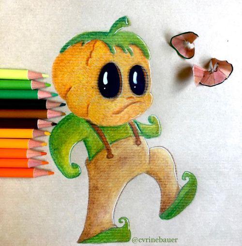 Dibujo de niño calabaza