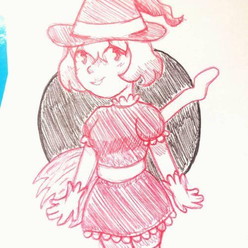 Dibujo de Niña bruja