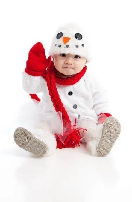 disfraces de Navidad caseros para bebés 2020