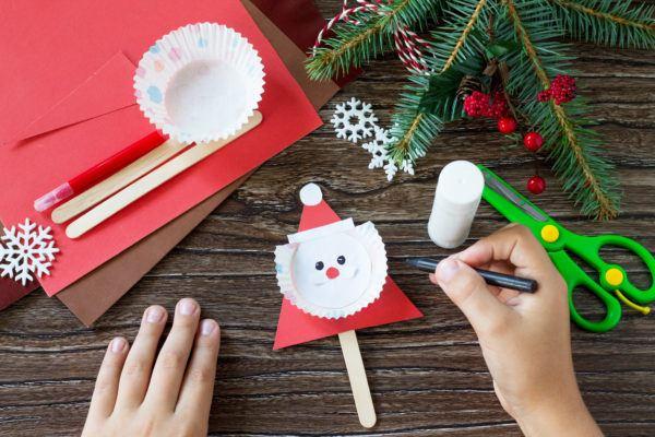 Manualidades de navidad para ninos 2020 2021 papa noel