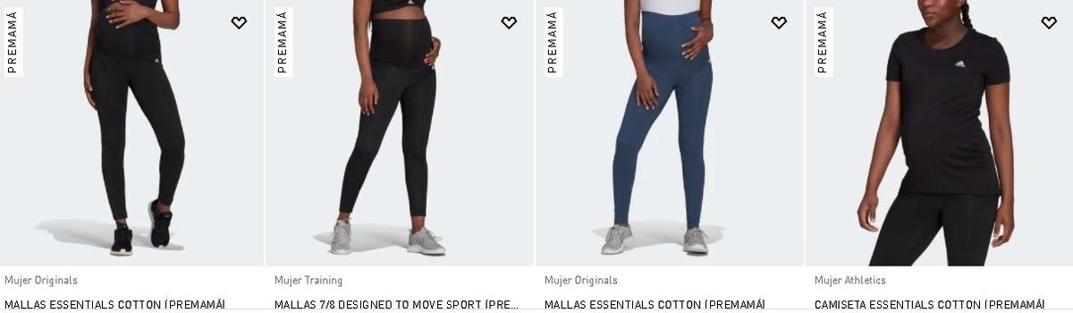 Catálogo Adidas Premamá mallas y camisetas