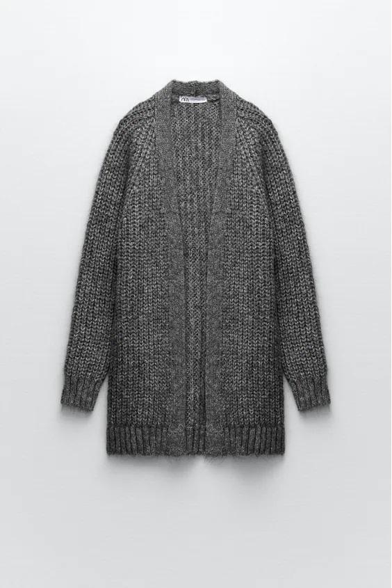 Catalogo zara premama otoño invierno cardigan oversize gris