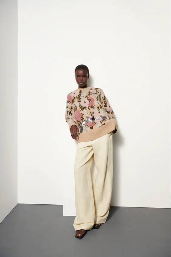 Catalogo zara premama otoño invierno jersey flores