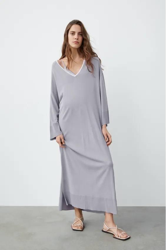 Catalogo zara premama otoño invierno vestido tipo tunica