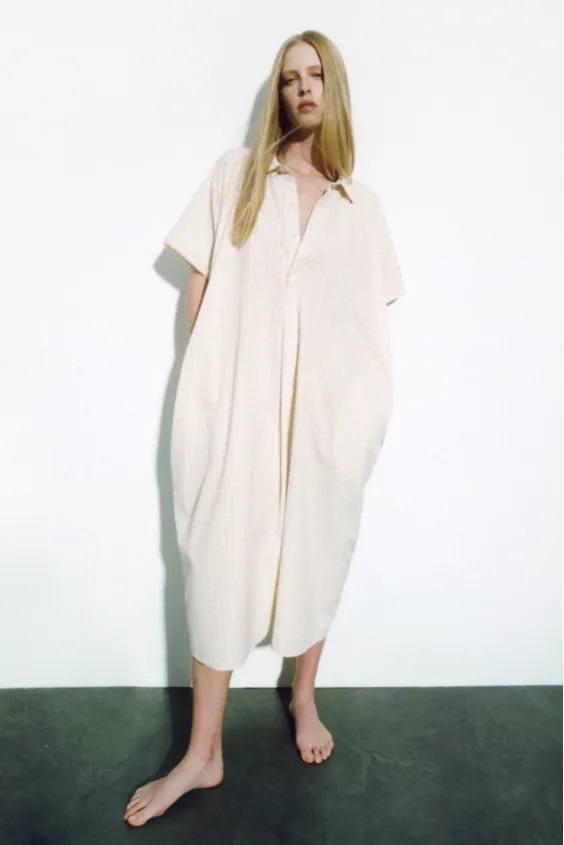 Catalogo zara premama otoño invierno vestido tunica