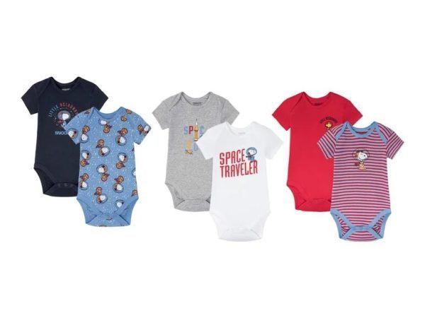 Catalogo ropa lidl bebe otoño invierno 2021 2022 body manga corta estampado