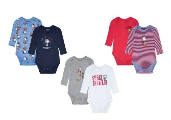 Catalogo ropa lidl bebe otoño invierno 2021 2022 body manga larga estampado
