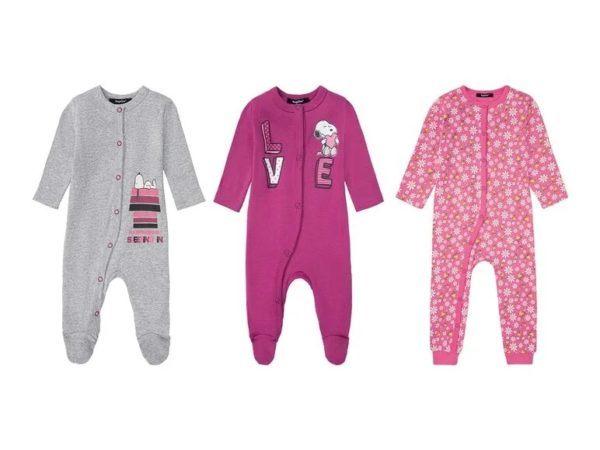 Catalogo ropa lidl bebe otoño invierno 2021 2022 pijama manga larga niña