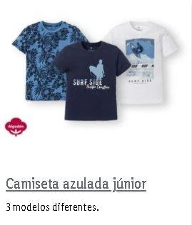 Camisetas azuladas Lidl