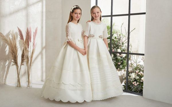 Vestidos comunion 2021 rosa clara
