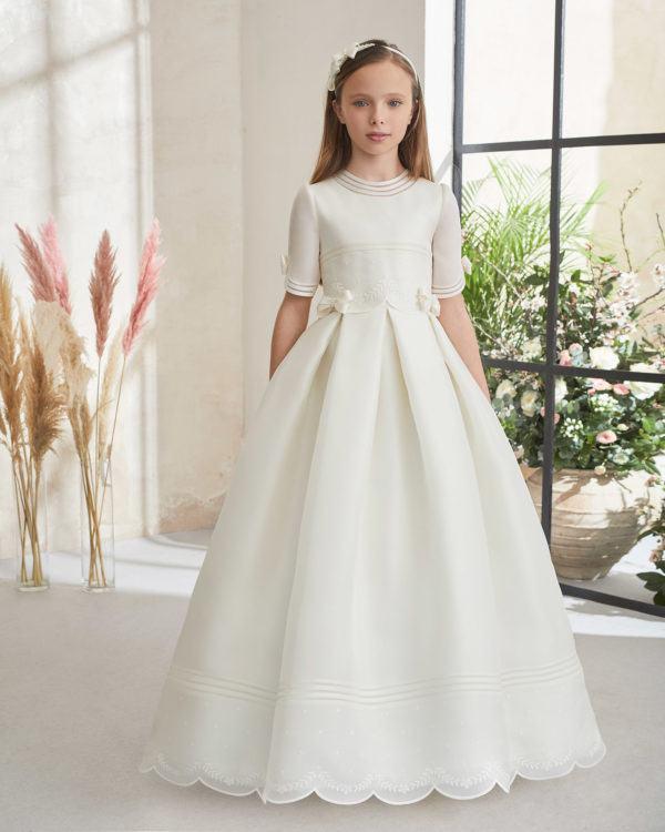 Vestidos comunion 2021 rosa clara modelo 59101