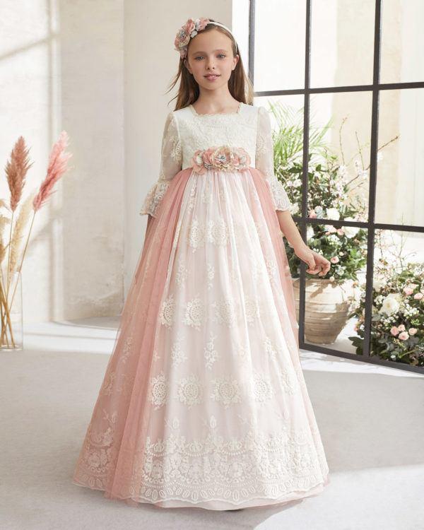 Vestidos comunion 2021 rosa clara modelo 59108