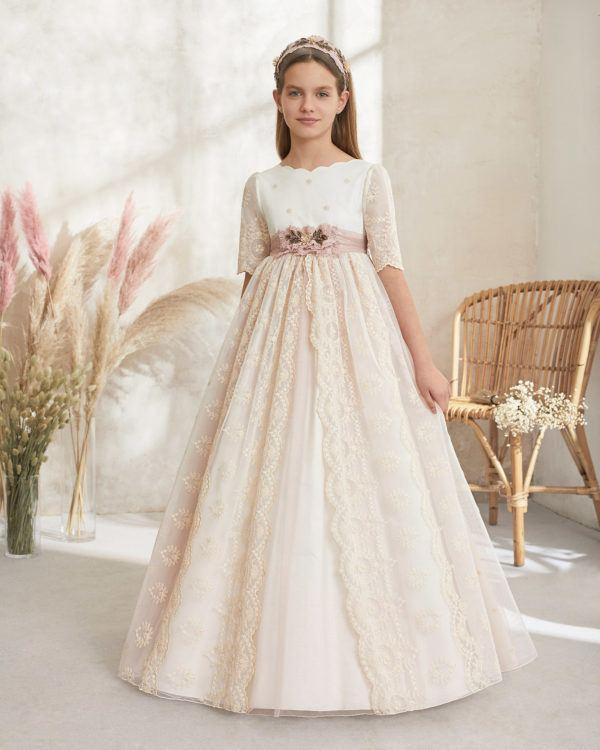 Vestidos comunion 2021 rosa clara modelo 59110