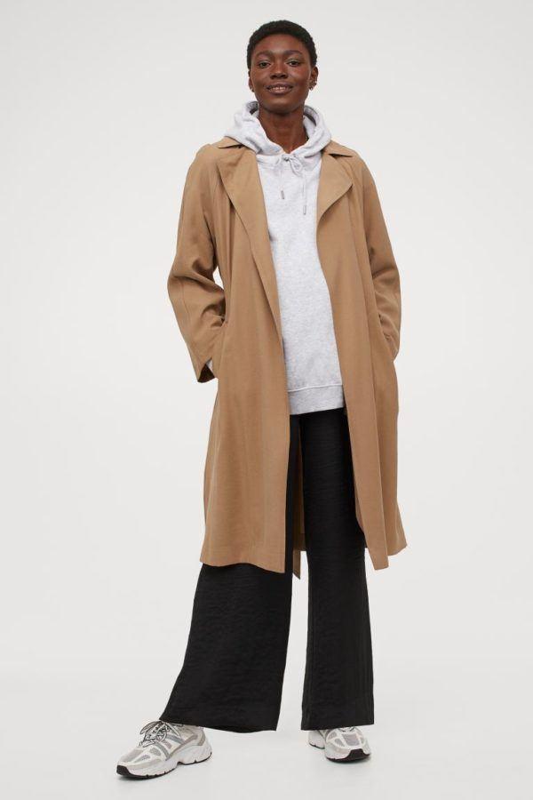 Catálogo H&M Premamá Otoño Invierno 2021 2022 abrigo lana