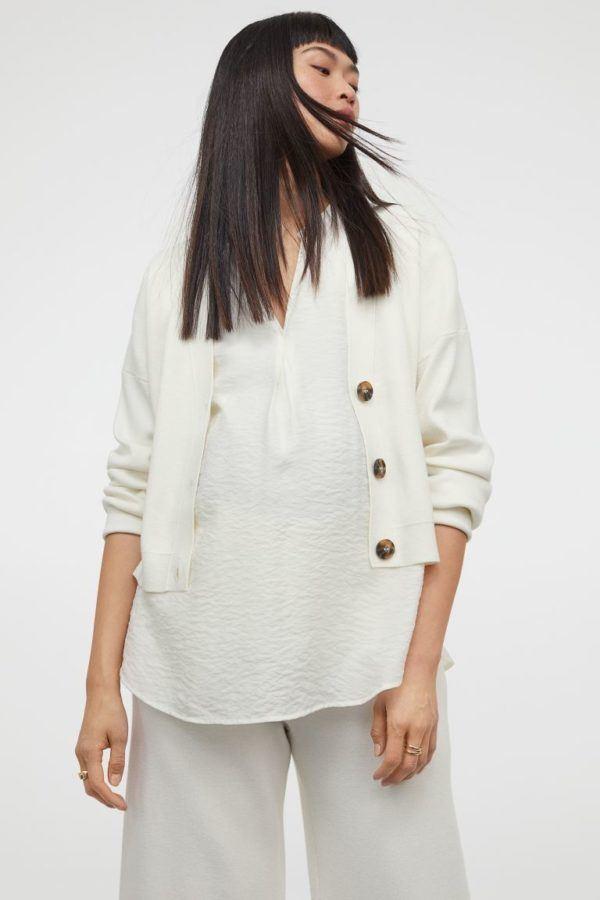 Catálogo H&M Premamá Otoño Invierno 2021 2022 blusa camiseta crepe