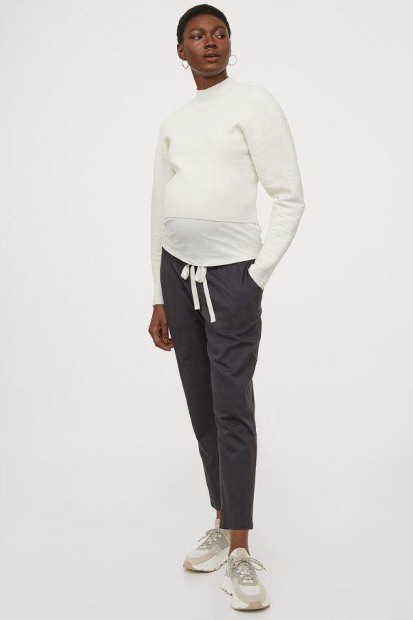 Catálogo H&M Premamá Otoño Invierno 2021 2022 pantalon sarga