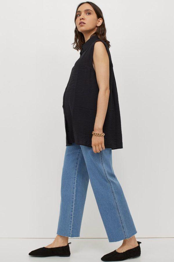 Catálogo H&M Premamá Otoño Invierno 2021 2022 pantalon tejano