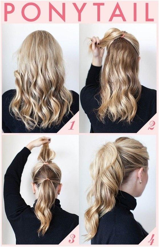Peinados de coleta fáciles y rápidos para el trabajo