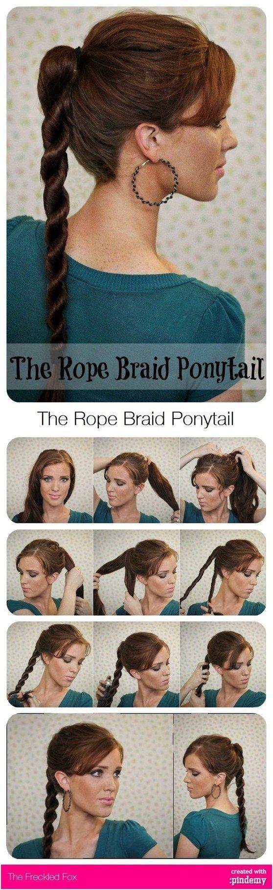 Tutorial de peinados con coleta de cuerda