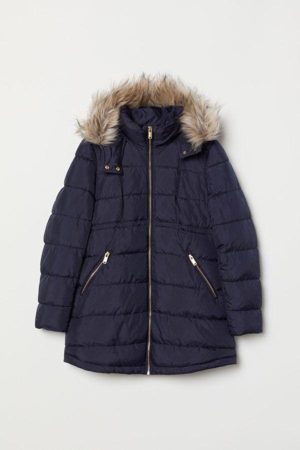 Abrigos premama donde comprar H&M abrigo acolchado azul capucha