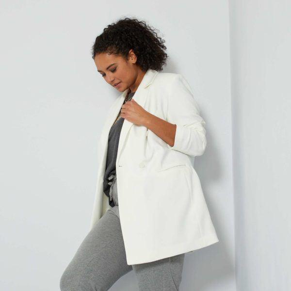 Abrigos premama donde comprar KIABI abrigo chaqueta blanca