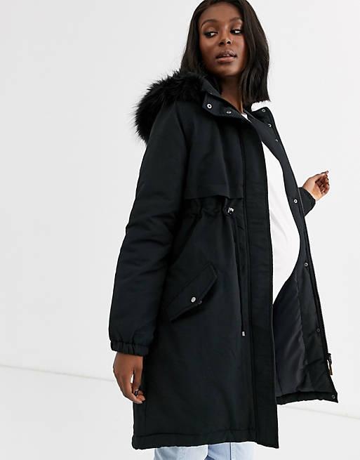 Abrigos premama donde comprar asos abrigo parka negra