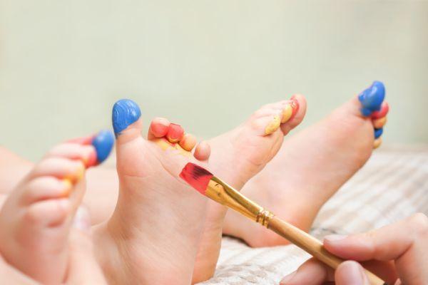 Pies pintados niños