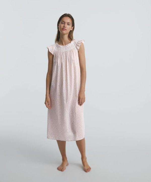 Camisones premama donde comprar OYSHO camison largo rosa