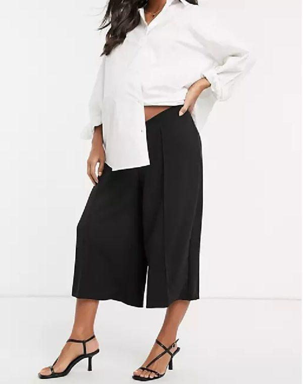 Pantalones cortos donde comprar ASOS pantalon negro acampanado