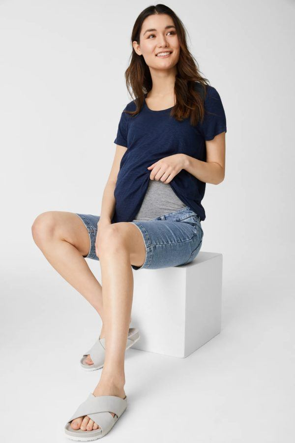 Pantalones cortos donde comprar C&A pantalon vaquero