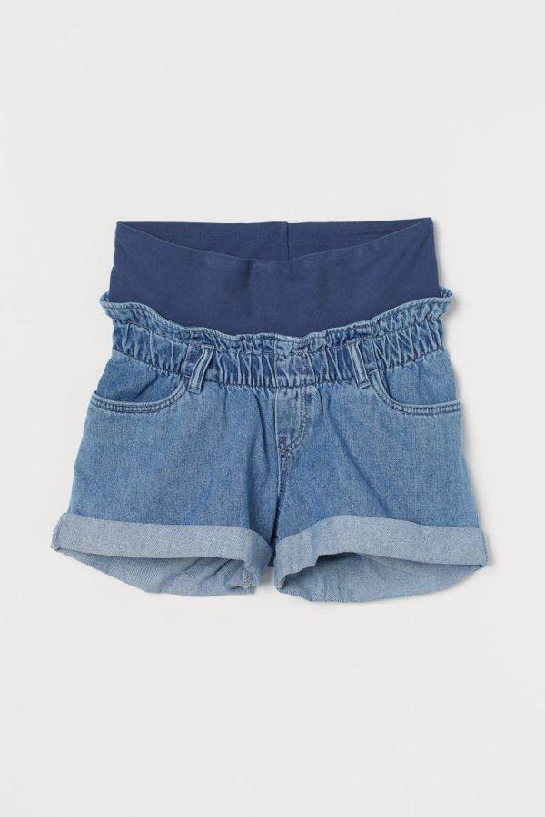 Pantalones cortos donde comprar H&M pantalon vaquero cintura