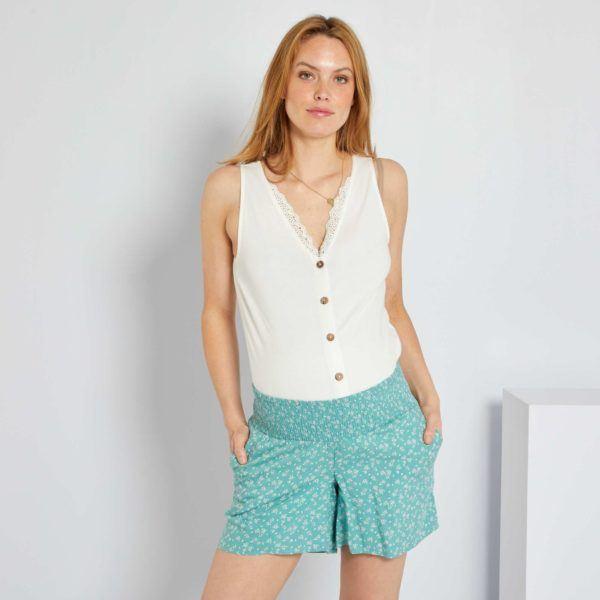 Pantalones cortos donde comprar KIABI pantalon estampado floral