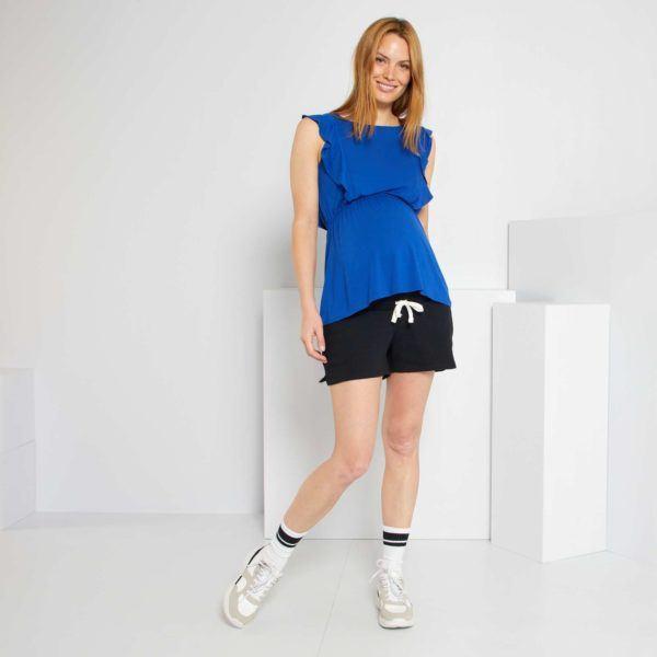Pantalones cortos donde comprar KIABI pantalon felpa negro