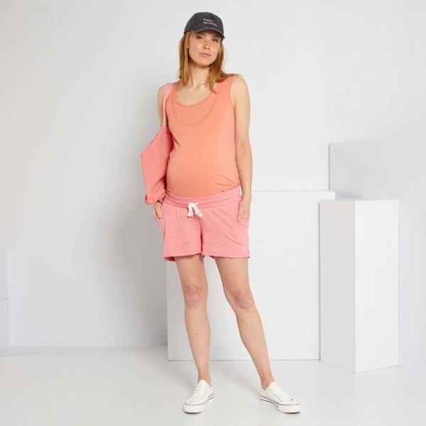 Pantalones cortos donde comprar KIABI pantalon felpa rosa