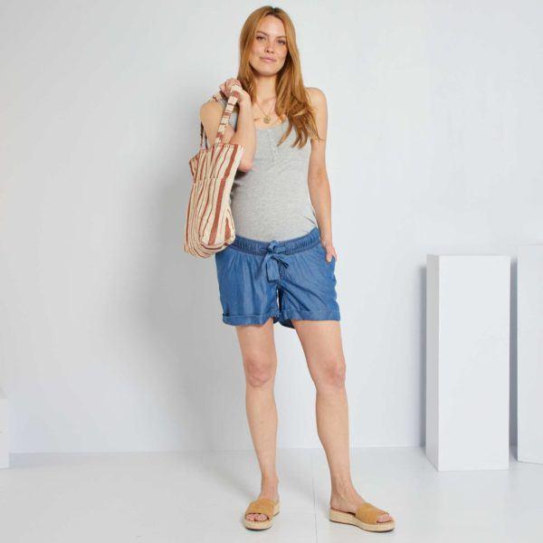 Pantalones cortos donde comprar KIABI pantalon lyocell