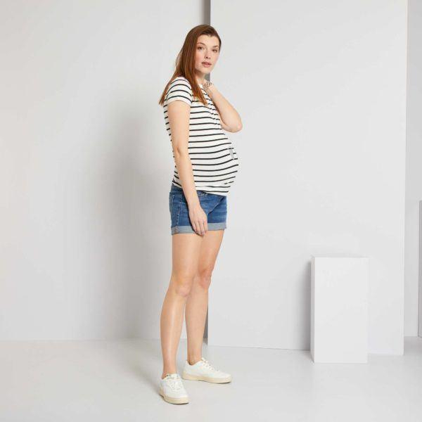 Pantalones cortos donde comprar KIABI pantalon vaquero doblado