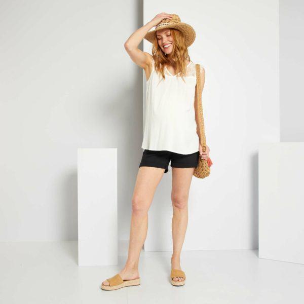 Pantalones cortos donde comprar KIABI pantalon vaquero negro