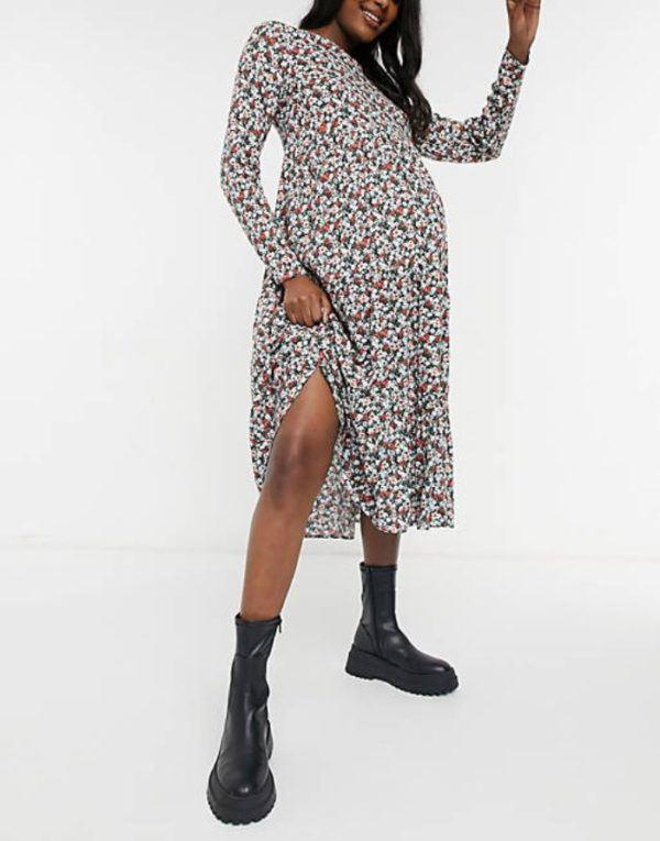 Vestidos premama donde comprar ASOS vestido gris