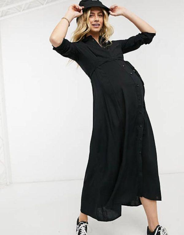 Vestidos premama donde comprar ASOS vestido negro largo